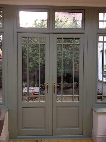 Hardwood french doors these doors were designed and hand for Glass patio doors exterior