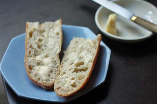 baguette with butter | by David Lebovitz