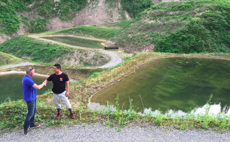 Leo en Shigeru San aan de mudpound