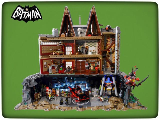 Amazingly Detailed 1966 Batman S Wayne Manor In Lego The