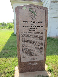 Lovell, Oklahoma 1889 / Lovell Christian Church 1911 - 1971 | by carletaorg