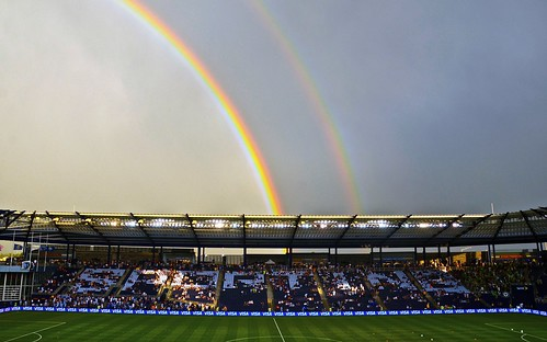 Double Rainbow! | Shot prior to the start of Sporting KC win ...