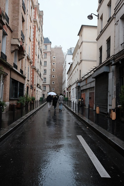 raining day in paris