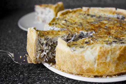 over-the-top mushroom quiche | by smitten kitchen