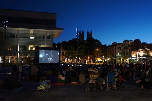 Movie night in Market Square