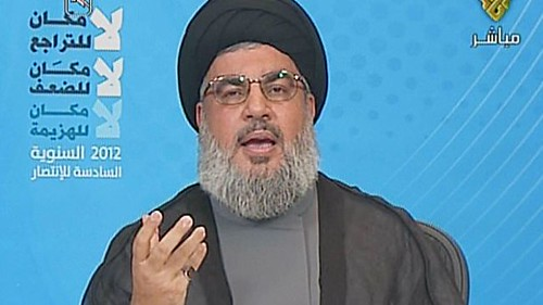 Hizbollah leader Seyyed Hassan Nasrallah speaks on the sixth anniversary of the defeat of Israel in their attempted invasion of Lebanon. The Zionist suffered a huge setback to their military image. | by Pan-African News Wire File Photos