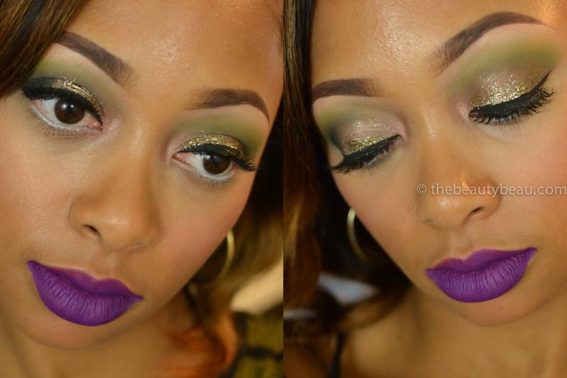 how to wear purple lips on dark skin