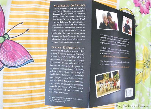 Resenha, livro, O-Voo-da-Bailarina, Michaela-DePrince, Elaine-DePrince, editora-BestSeller, opiniao, critica, fotos, bale, adoção, bailarina-negra, biografia, serra-leoa, capa