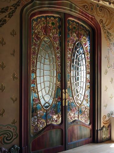 Puerta corredera de vidrieras modernistas flickr photo - Vidrieras para puertas ...