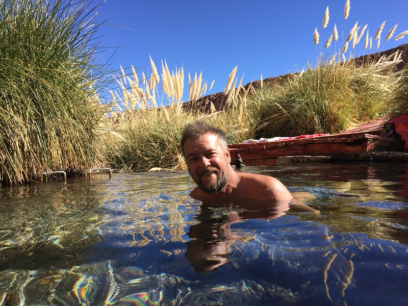 in the hot water springs