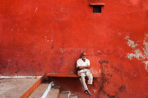 Red, Varanasi | by Marji Lang Photography