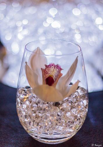 Little Glass Wedding Cake Heart On Top
