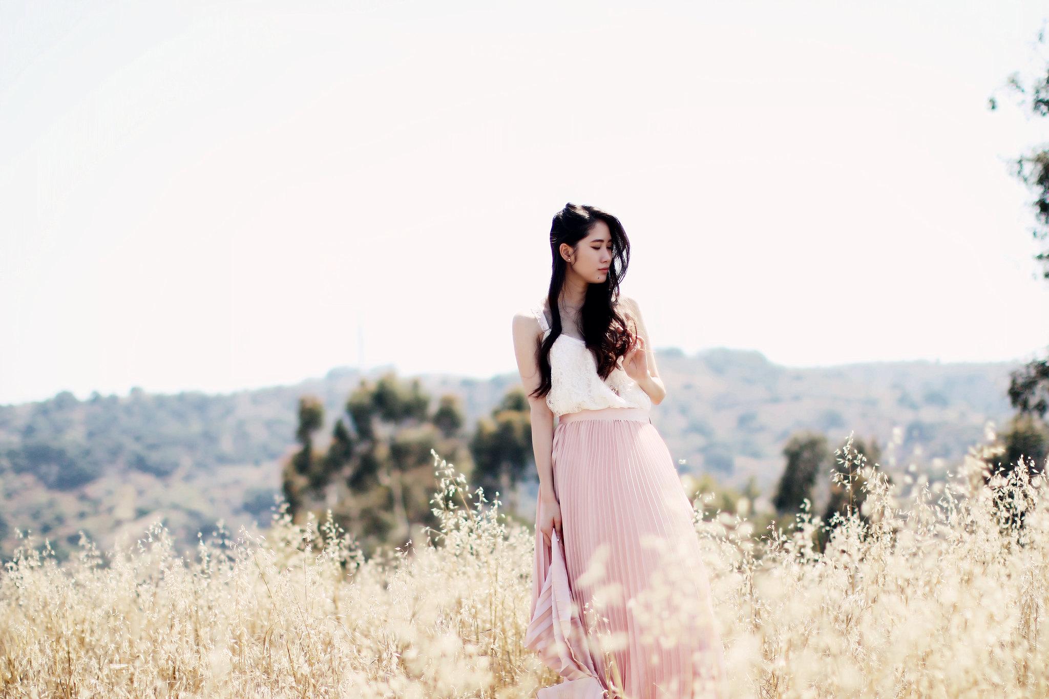 9774-pink-maxi-skirt-korean-fashion
