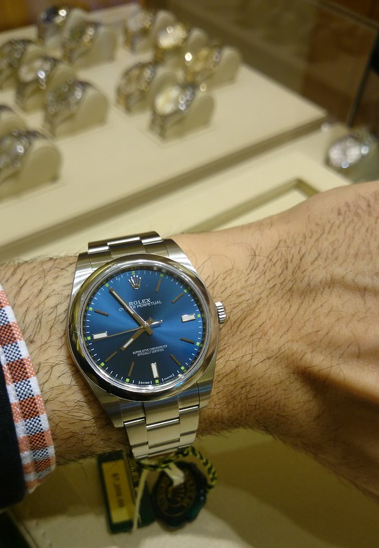 Help with watch size on wrist (Rolex, Omega, Eterna) with picsRolex Datejust 36mm On Wrist