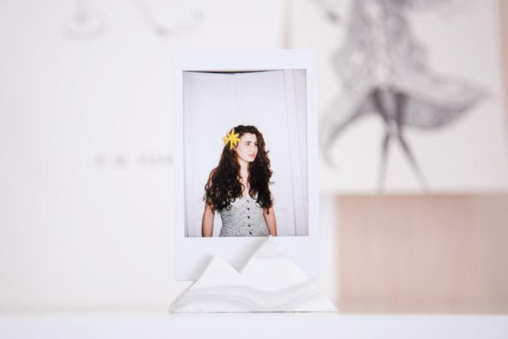 Embroidered photography + marble fimo · Fotografía bordada + marmolado con fimo · Fábrica de Imaginación