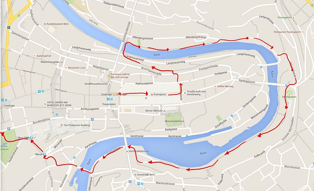 River walk route map
