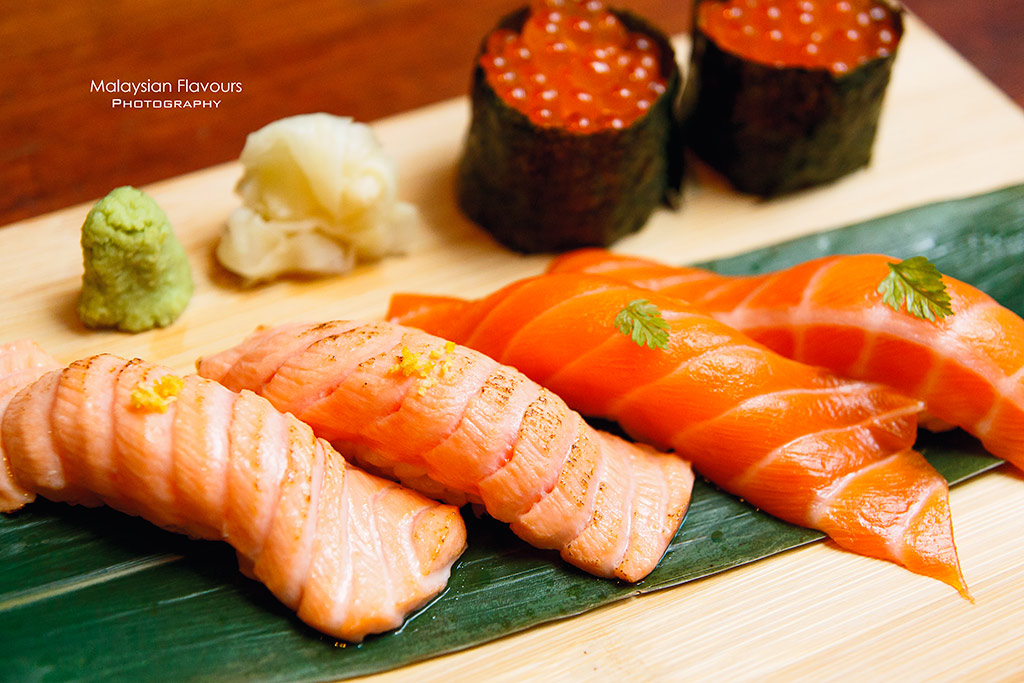 Ippudo Bangsar Shopping Centre 2016 salmon sushi
