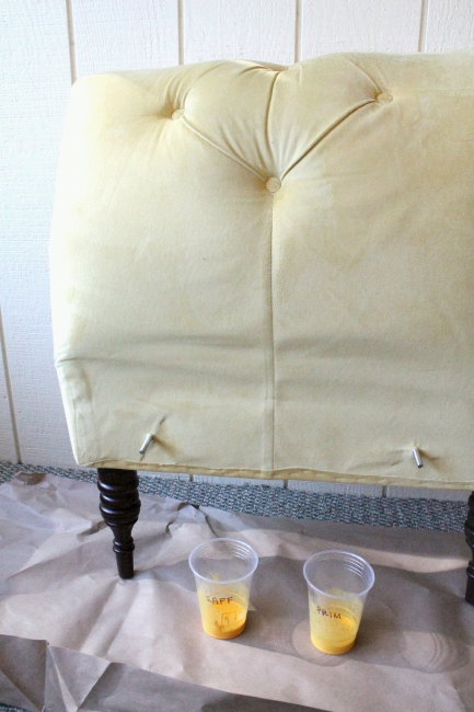 Painting couch, 1