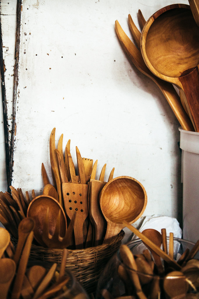 Hand-carved utensils
