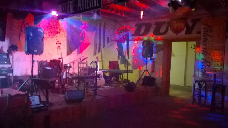 Delta ladies Stage set up at the Motorcycle Hotel