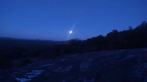 Bald Rock Summer Solstice Moonset