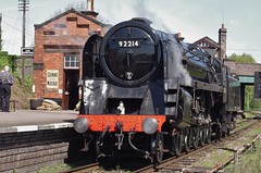 92214, BR Standard 9F light engine at Quorn & Woodhouse station, 3rd May 2014