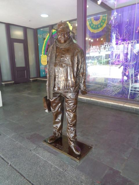 Ignatius J. Reilly Statue outside Hyatt French Quarter, New Orleans LA