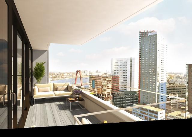 The muse wijnhaven 69 uitzicht balkon