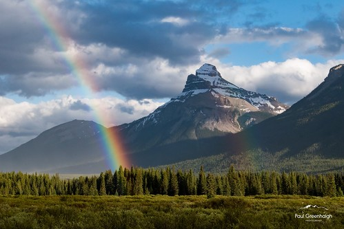Pilot Mountain rainbows.  Banff, Alberta