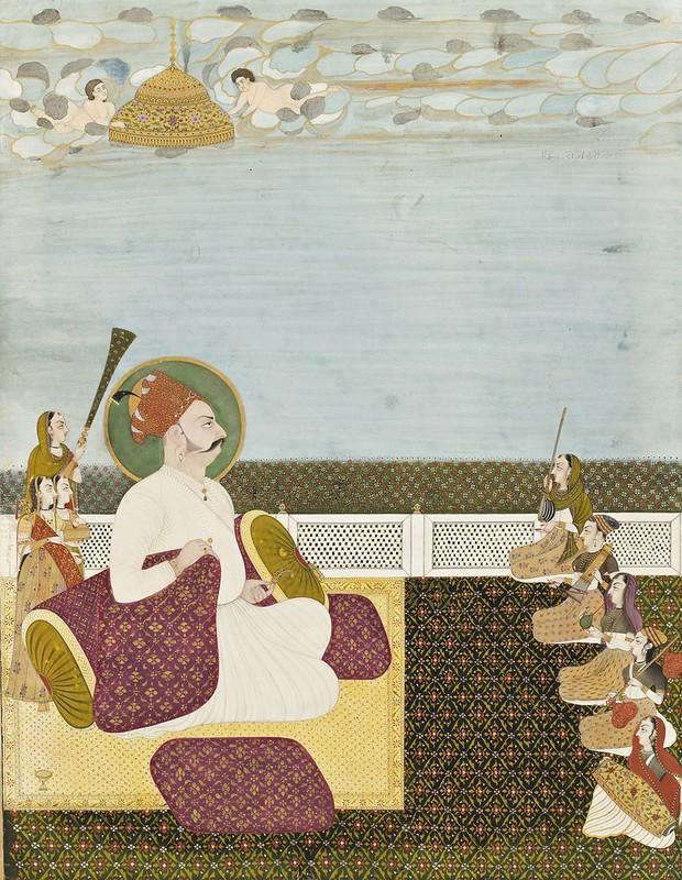 Anonymus - Maharaja Abhai Singh of Jodhpur (1724-49) listening to music