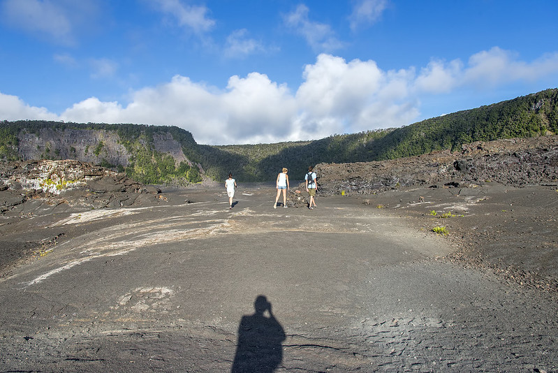 Family portrait in the Kilauea Iki Crater