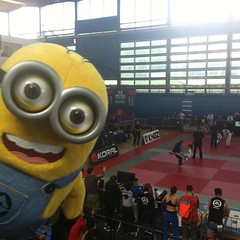 At the venue ready for jits giggles and of course imposing my game! #factorybjj #bjj #minionmischief #ibjjf #britishnationals