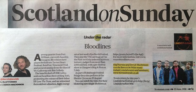 Scotland On Sunday, 12 June 2016, Bloodlines