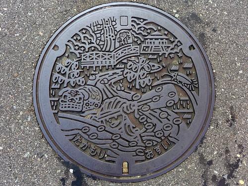 Takamori Nagano, manhole cover 2 (長野県高森町のマンホール2)