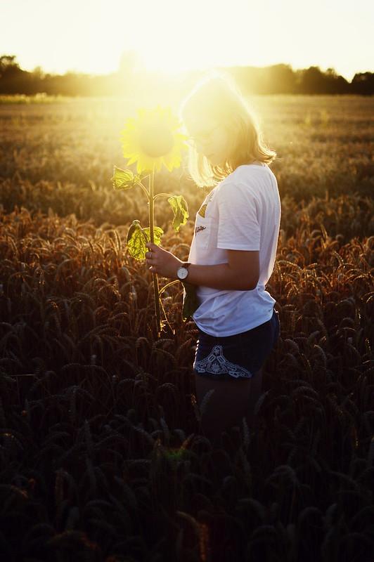 Fotografie Sonnenuntergang Mädchen
