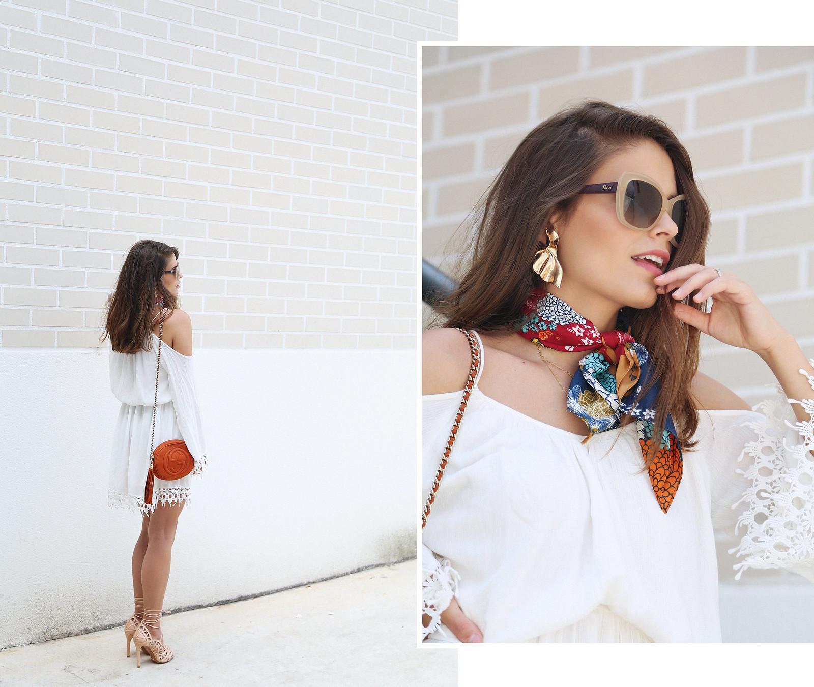 jessie chanes seams for a desire white off shoulders dress schutz sandals-1