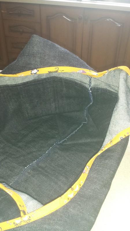 Grainline Stowe bag in denim