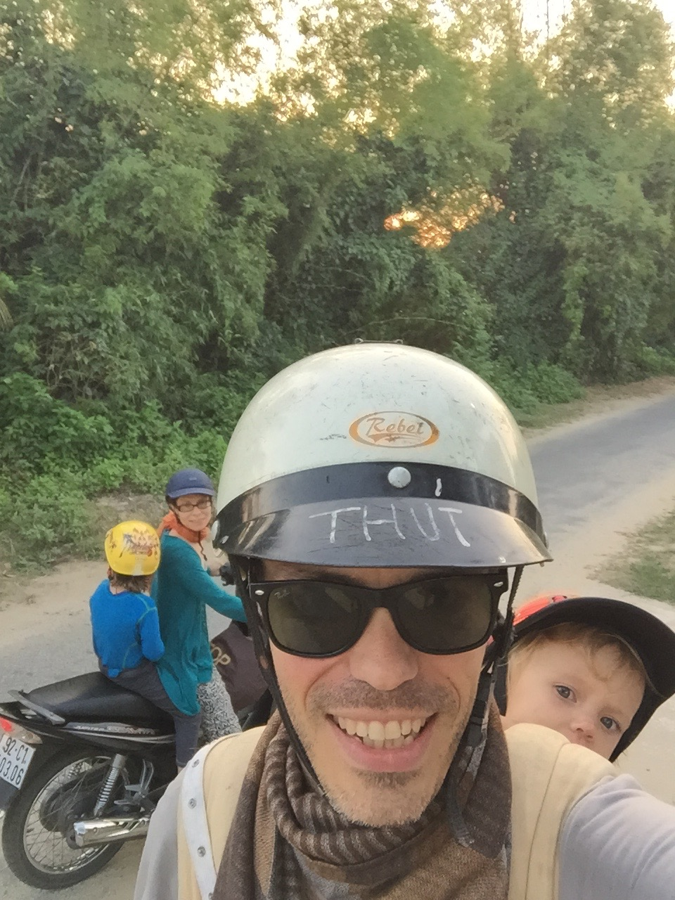 Eirikur Orn Norddahl and family near Hoi An, Vietnam, 2015