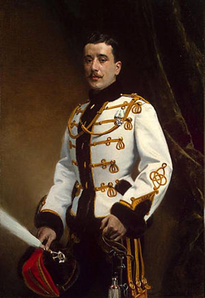 Портрет корнета лейб-гвардии Гусарского полка П.М.Раевского. 1913 г.Э. Липгарт