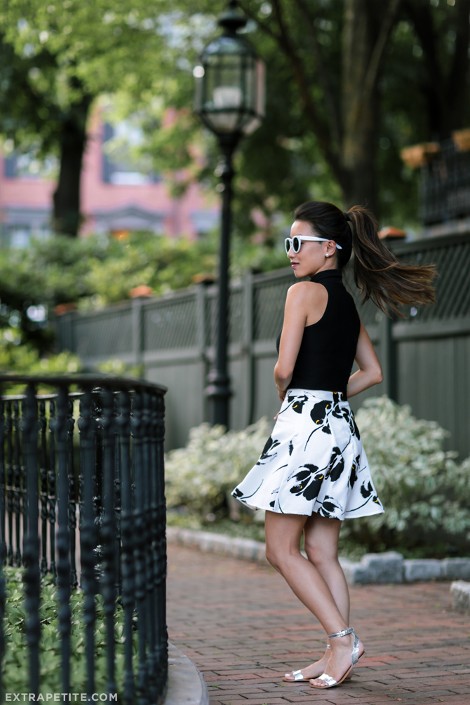 black and white summer outfit_boston blogger