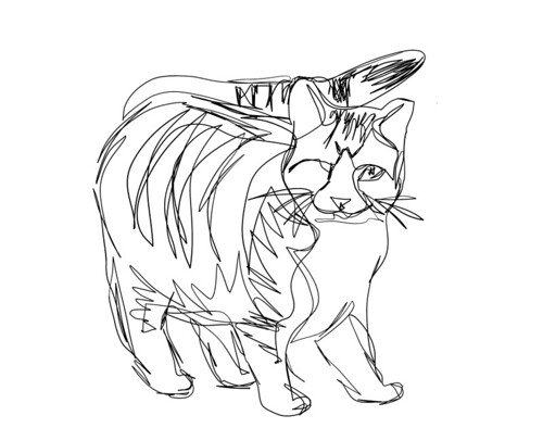 Oliver Line Drawing