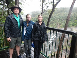 Steve Nadine and Kelsea at Skyrail Barron Falls Overlook