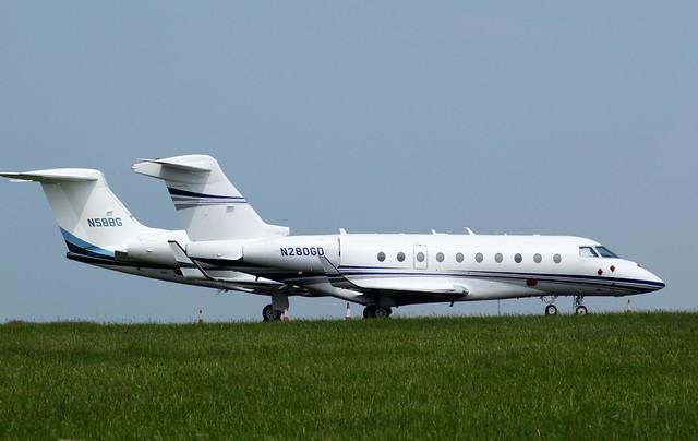 Gulfstream G280 N280GD & Gulfstream G550 N588G 06JUN16 - Gerallt Marsh