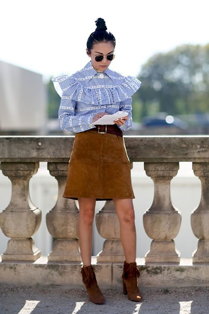 blue light top inspiration street style fashion outfit10