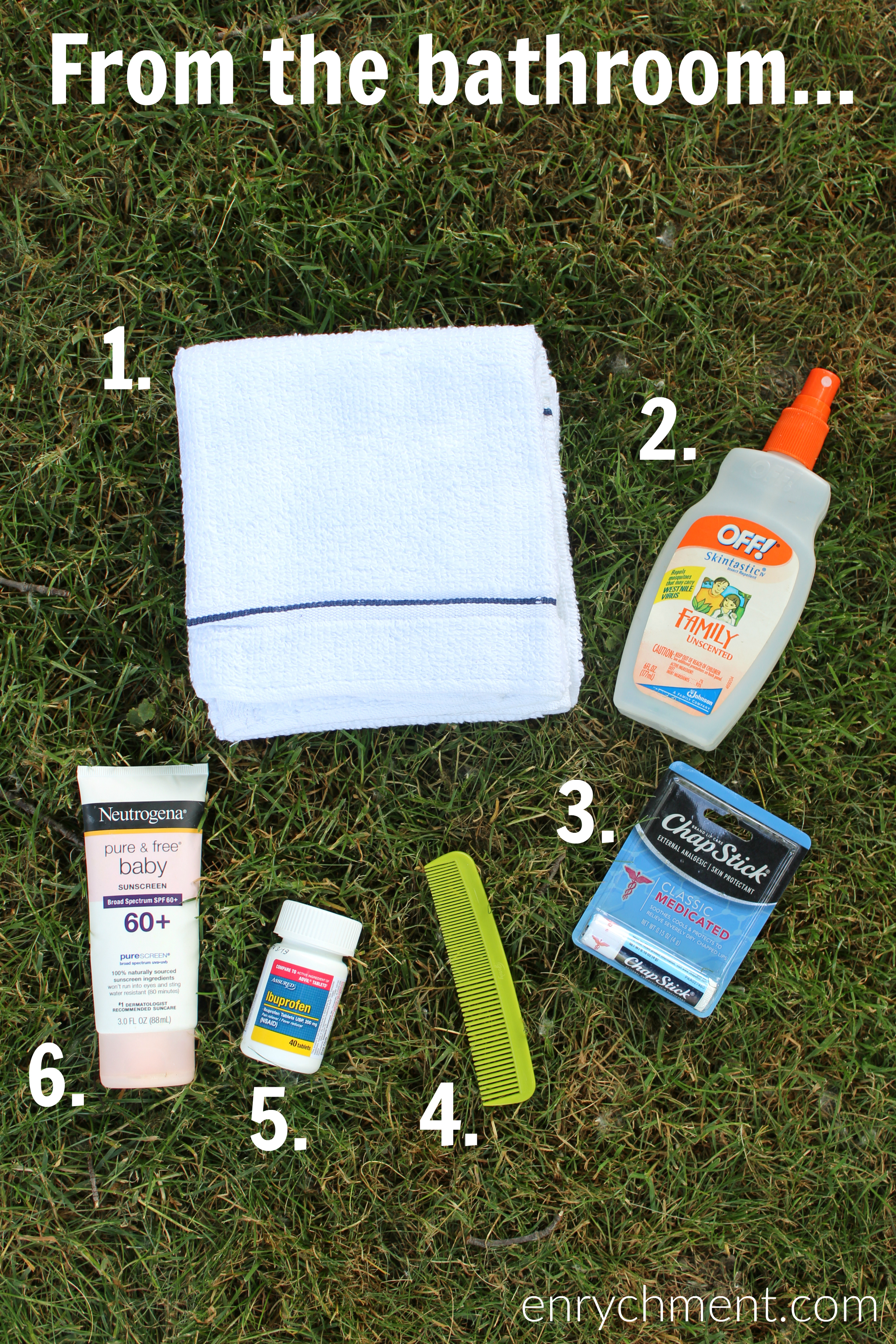 Summer Bag Essentials from the bathroom