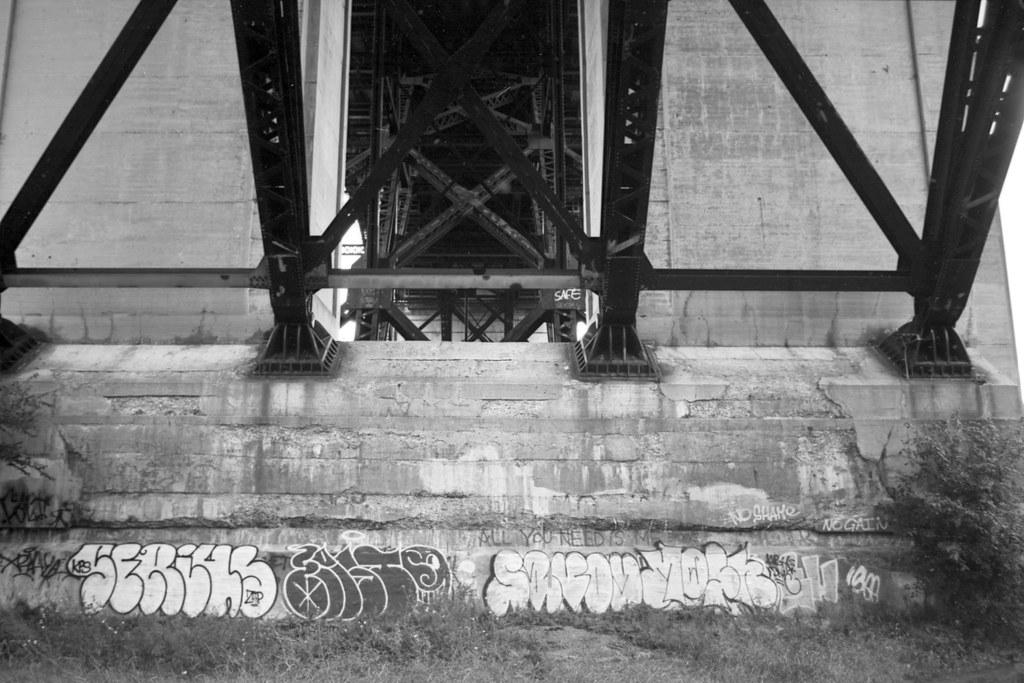 Base of the Bloor Street Viaduct