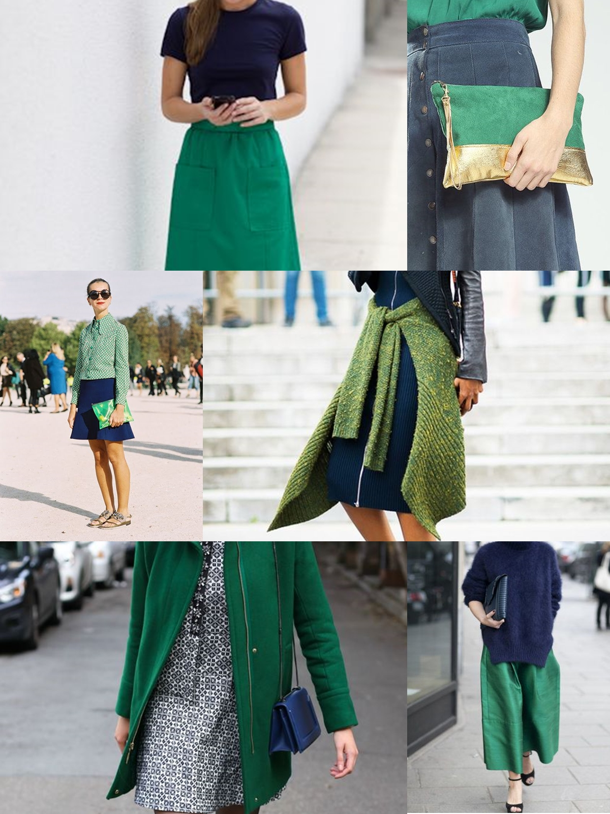 page green and navy