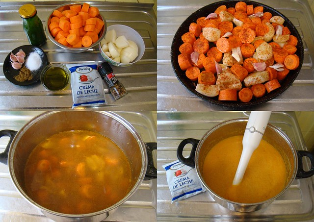 Sopa de Cenouras Assadas