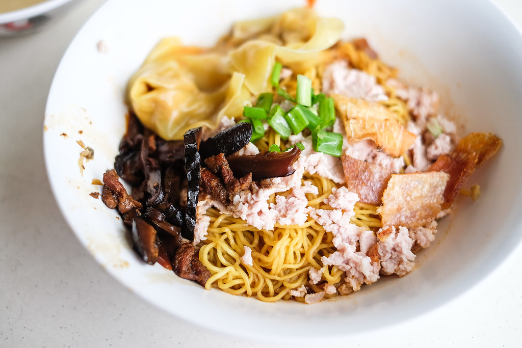 Ah Kow Mushroom Minced Pork Mee: The dry version