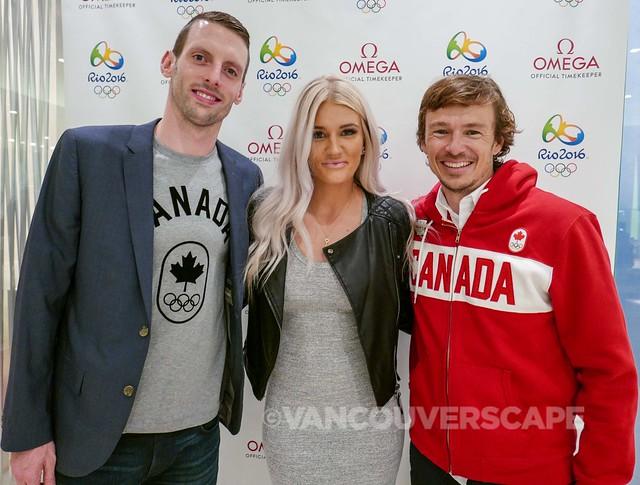 Olympians Ryan Cochrane, Kaylyn Kyle, Simon Whitfield